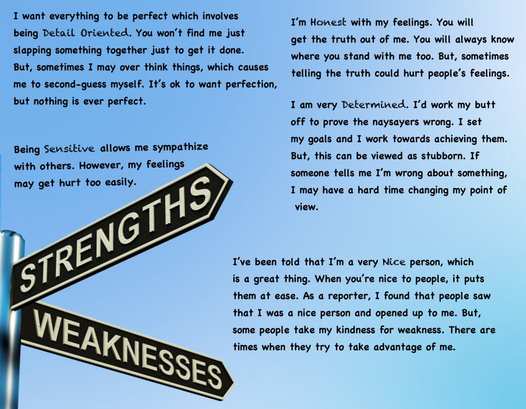 5 of my strengths  u0026 weaknesses