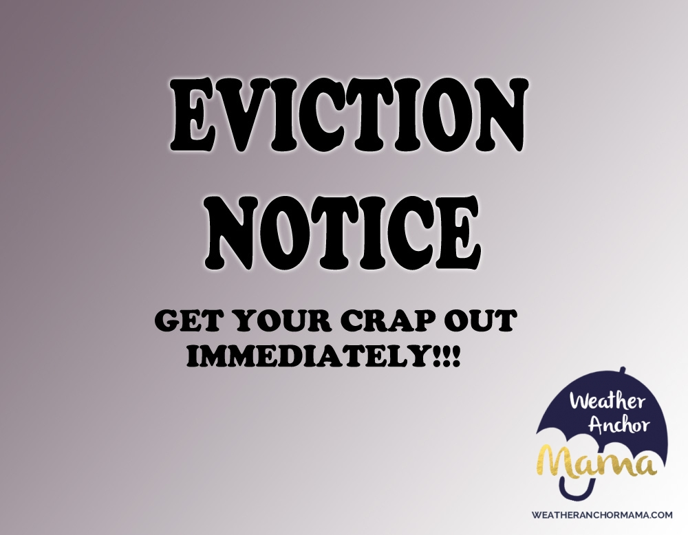 Giving my husband an eviction notice weather anchor mama altavistaventures Image collections