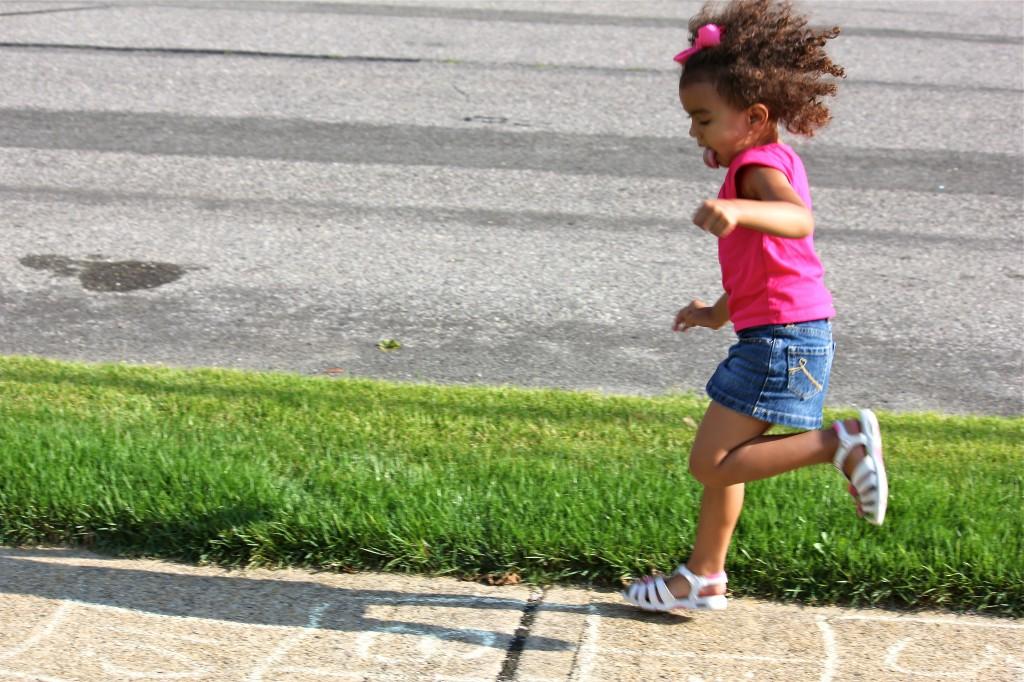 Kids Playing Hopscotch...