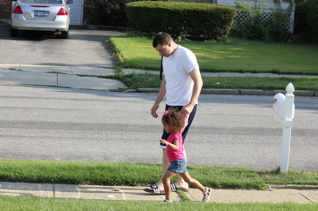 hopscotch w/ daddy
