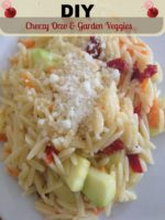 DIY: Cheezy Orzo & Garden Veggies