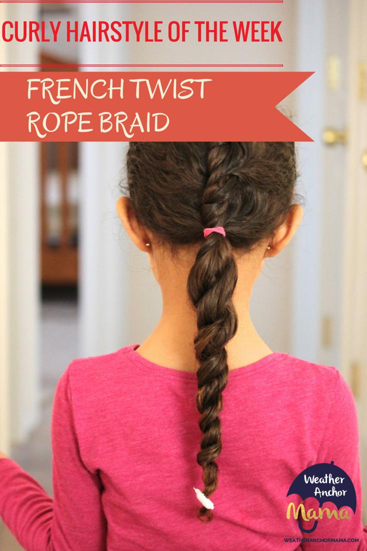 French Twist Rope Braid