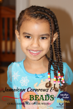 Curly Hairstyle of the Week: Jamaican Cornrows and Beads