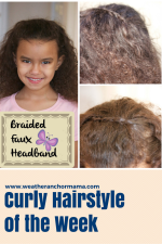 Curly Hairstyle of the Week: Braided Faux Headband Tutorial