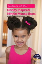 Curly Hairstyle of the Week: Disney Inspired Minnie Mouse Buns