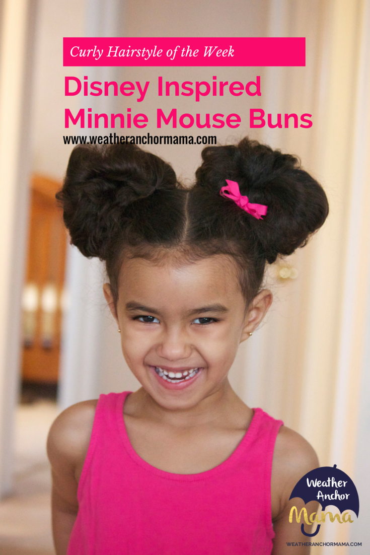 Curly Hairstyle Of The Week Disney Inspired Minnie Mouse