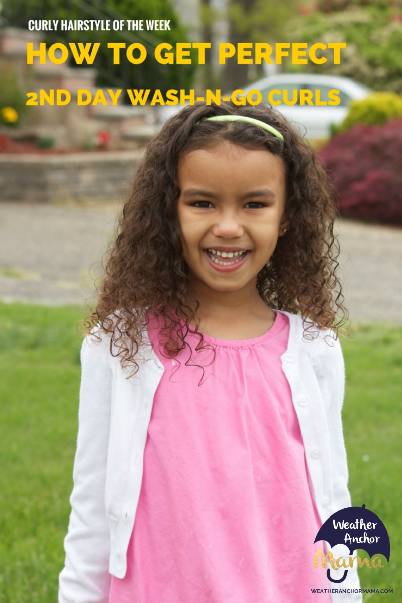 mix hair care: second day wash-n-go curls | weather anchor mama