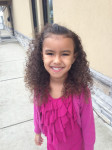 biracial girl naturally curly hair