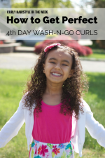 Mixed Hair Care: Fourth Day Wash-N-Go Curls