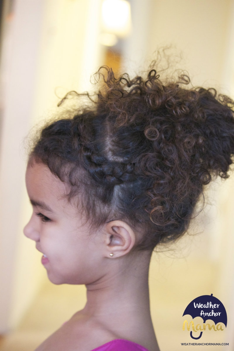 curly hair Messy bun biracial hair weatheranchormama