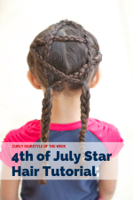 Curly Hairstyle of the Week: 4th of July Star on Biracial Hair