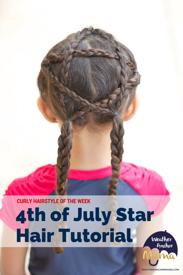 Enjoyable Curly Hairstyle Of The Week 4Th Of July Star On Biracial Hair Short Hairstyles Gunalazisus