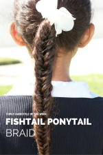 Curly Hairstyle of the Week: Fishtail Ponytail Braid