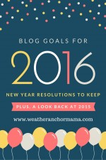 Blog Goals for 2016: New Year Resolutions to Keep