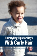 Father Shares Tips on Styling Son's Curly Hair