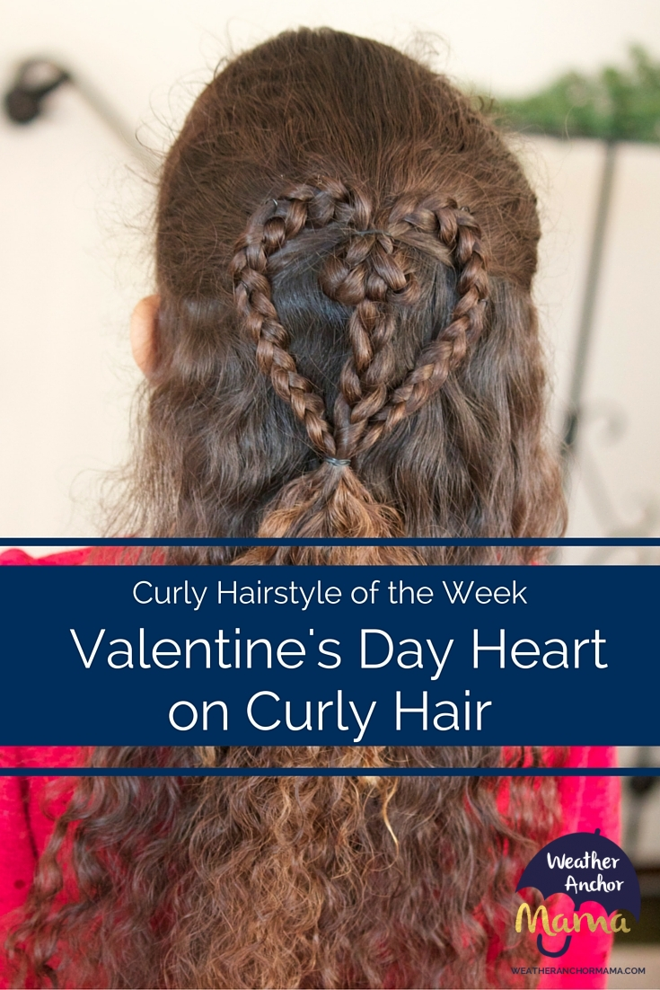 Braided Valentines Day Heart On Curly Hair Weather