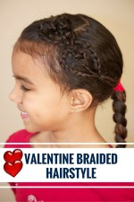 Double Heart Valentine Braided Hairstyle