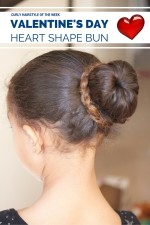 Curly Hairstyle of the Week: Valentine's Day Heart Shape Bun