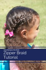 Zipper Braid Hairstyle on Curly Hair